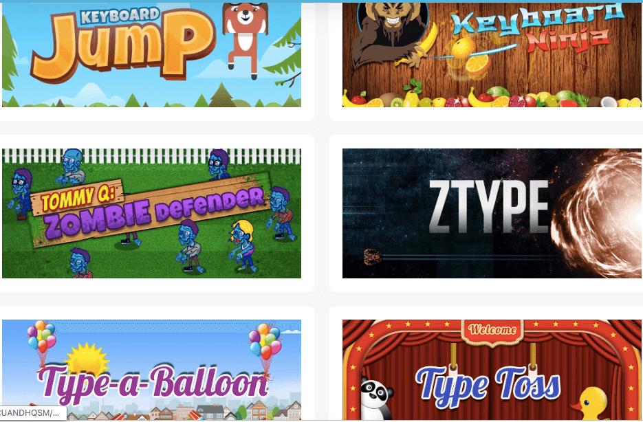 7. Games Menu Typing.com logo