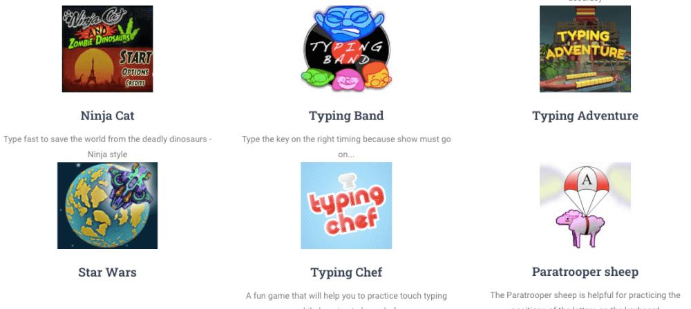 9. Games Menu – Sens-lang Keyboarding Games logo