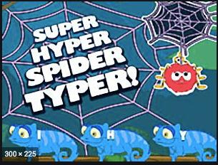 Game-super Hyper Spider Typer at Slimekids logo