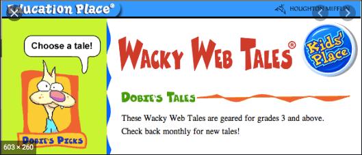 Wacky Web Tales – Parts of Speech logo